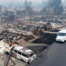 Видео: Почтальон развозит почту в выжженном городке в США