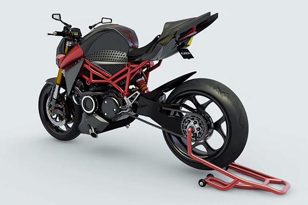 Концепт гибридного мотоцикла