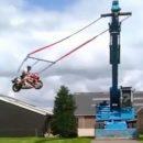Видео: Как из мотоцикла сделать качели