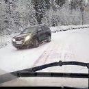 Видео: Лютый гололед перевернул стоячую машину