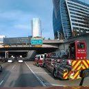 Видео: Пожарная машина дрифтом перестраивается через несколько полос