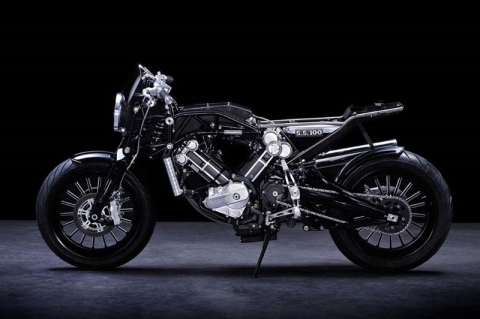 Ретро мотоцикл Brough Superior SS100