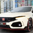 Новую Honda Civic Type R построили в полном размере из Lego